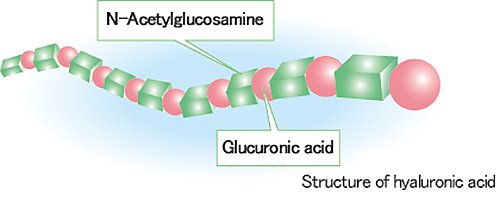 (Image view of structure of hyaluronic acid)